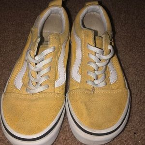 Kids yellow Vans